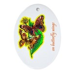 Butterfly Oval Ornament