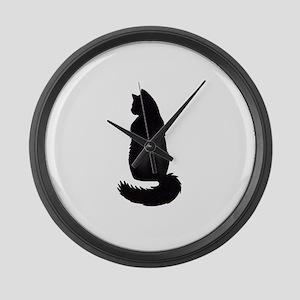 Black Cat Large Wall Clock