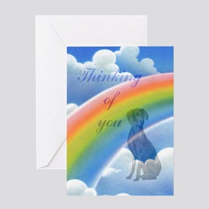 Weimaraner Sympathy Card Greeting Card