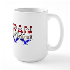 US Navy Veteran Large Mug