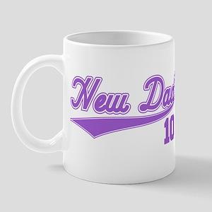 New Dad 10 (Purple Baseball Script) Mug