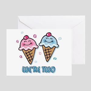 Ice Cream Were 2 Boy Girl Greeting Card