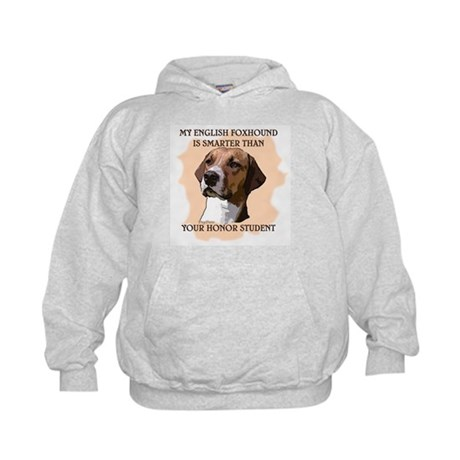 smart english foxhound Kids Hoodie