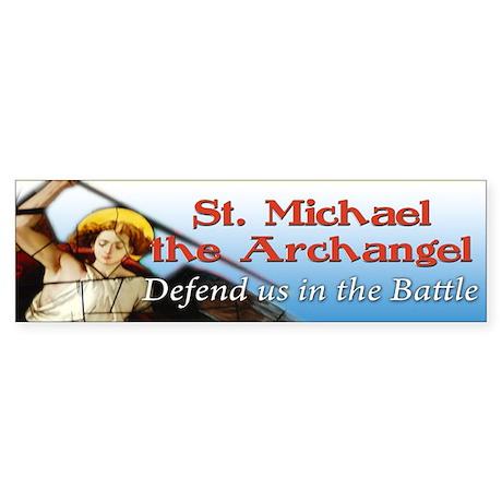 St Michael bumper sticker