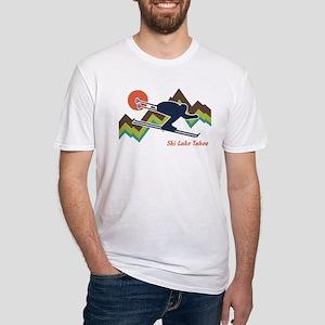 Ski Lake Tahoe Fitted T-Shirt