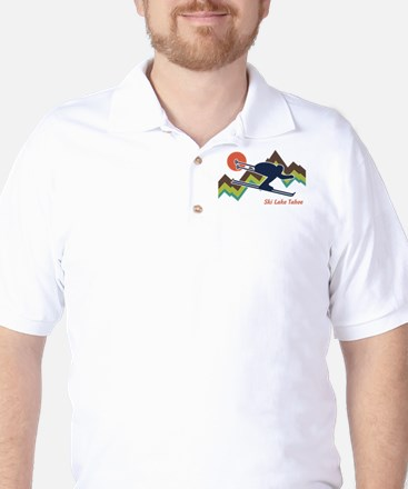 Ski Lake Tahoe Golf Shirt