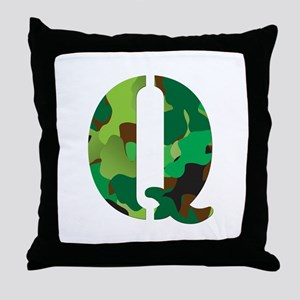 The Letter 'Q' Throw Pillow