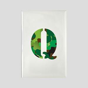 The Letter 'Q' Rectangle Magnet