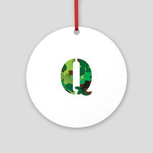 The Letter 'Q' Ornament (Round)