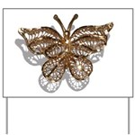 Gold Butterfly Yard Sign