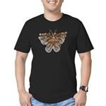 Gold Butterfly Men's Fitted T-Shirt (dark)