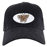 Gold Butterfly Black Cap