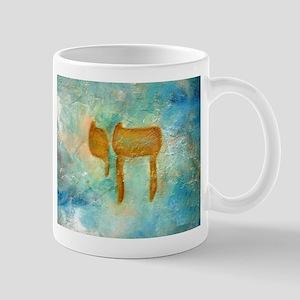 JEWISH HEBREW LETTER L'CHAYIM Mugs