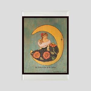 La senorita y la luna Rectangle Magnet