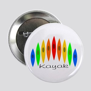 "Rainbow of Kayaks 2.25"" Button"