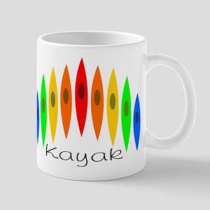 Rainbow of Kayaks Mug