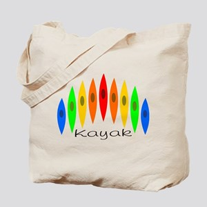 Rainbow of Kayaks Tote Bag