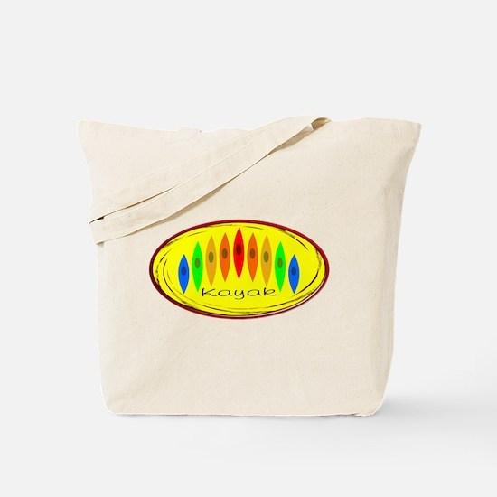 Kayak Rainbow (Yellow) Tote Bag