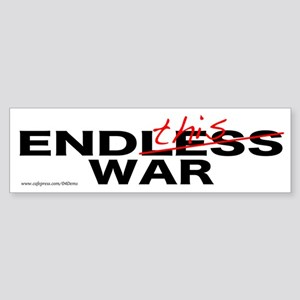 """End This War"" Bumper Sticker"