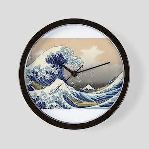 Kanagawa The Great Wave Wall Clock