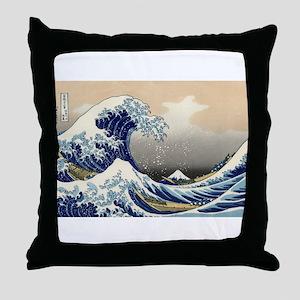 Kanagawa The Great Wave Throw Pillow