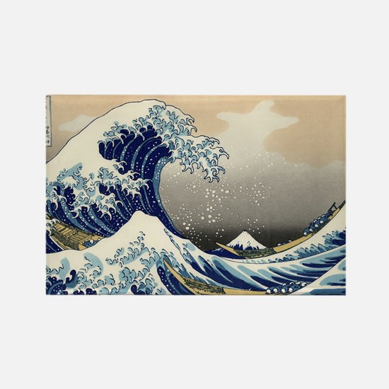 Kanagawa The Great Wave Rectangle Magnet
