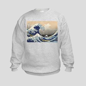 Kanagawa The Great Wave Kids Sweatshirt