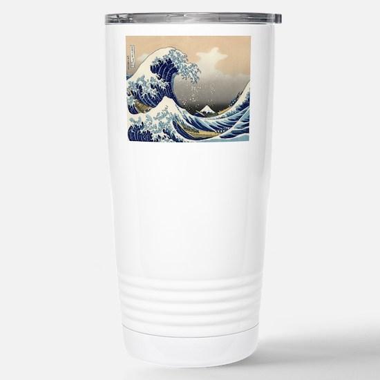 Kanagawa The Great Wave Stainless Steel Travel Mug