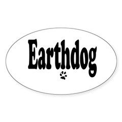 Earthdog Sticker (Oval)