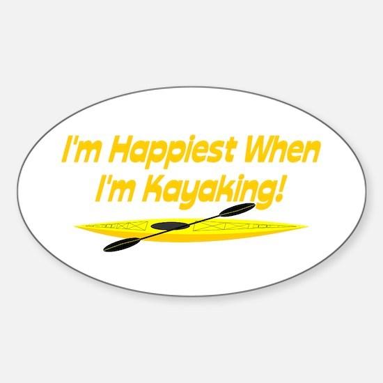I'm Happiest When Sticker (Oval)