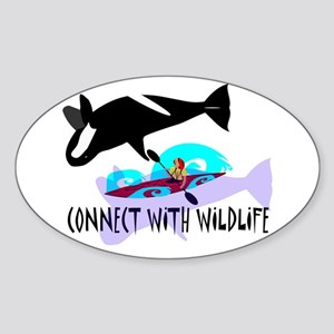 Connect With Wildlife Oval Sticker