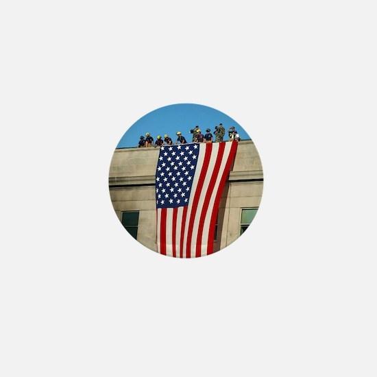 Pentagon Flag Mini Button
