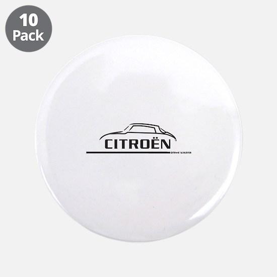 """Citroen DS 21 3.5"""" Button (10 pack)"""