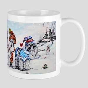 Schnauzer Winter Holiday Mug