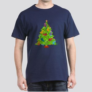 French Horn Christmas Dark T-Shirt
