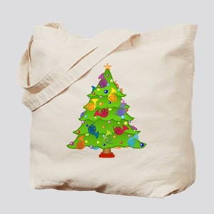 French Horn Christmas Tote Bag