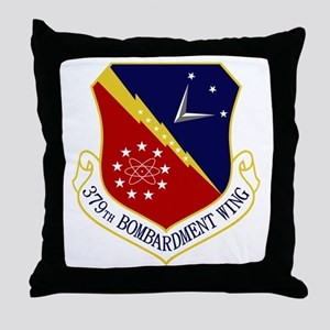 379th Bomb Wing Throw Pillow
