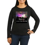 Kiss The Sky Women's Long Sleeve Dark T-Shirt