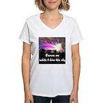 Kiss The Sky Women's V-Neck T-Shirt