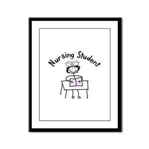 Stick People Occupations Framed Panel Print