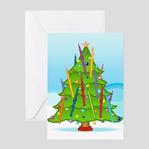Oboe Christmas Greeting Card