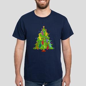 Saxophone Christmas Dark T-Shirt