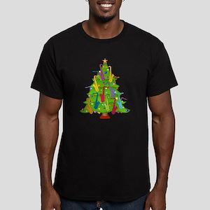 Saxophone Christmas Men's Fitted T-Shirt (dark)