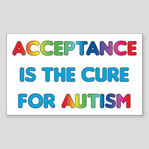 Autism Acceptance Sticker (Rectangle)