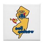 ILY New Jersey Tile Coaster