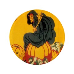"Witch On Pumpkin 3.5"" Button"
