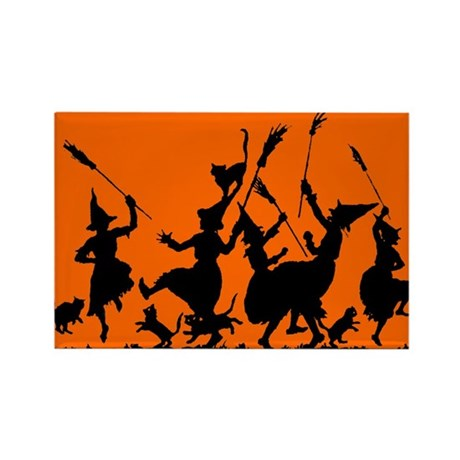 Witches Dance 2 Rectangle Magnet (10 pack)