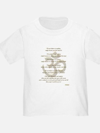 Golden Ohm & Buddha Quote T