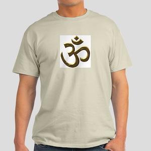 Golden Ohm & Buddha Quote Light T-Shirt