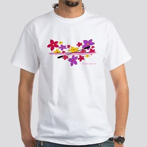 Kayak Flower Power White T-Shirt